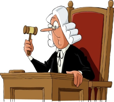 10037867 - a judge on a white background