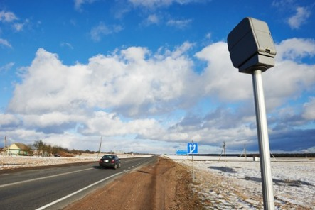 26774000 - speed control radar camera at countryside road highway