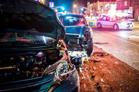 76164638 - car crash with police