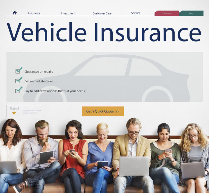 71312126 - auto insurance vehicle protection concept