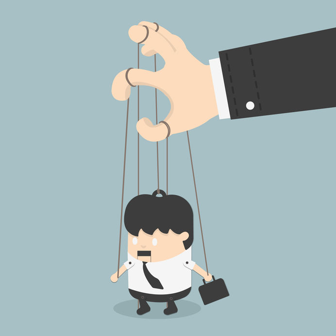 businessmen marionette