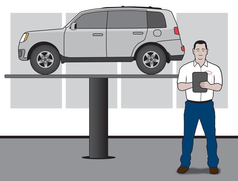 Auto Mechanic With SUV