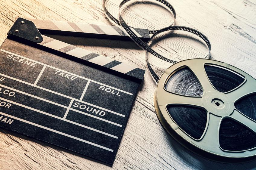 Film camera chalkboard and roll